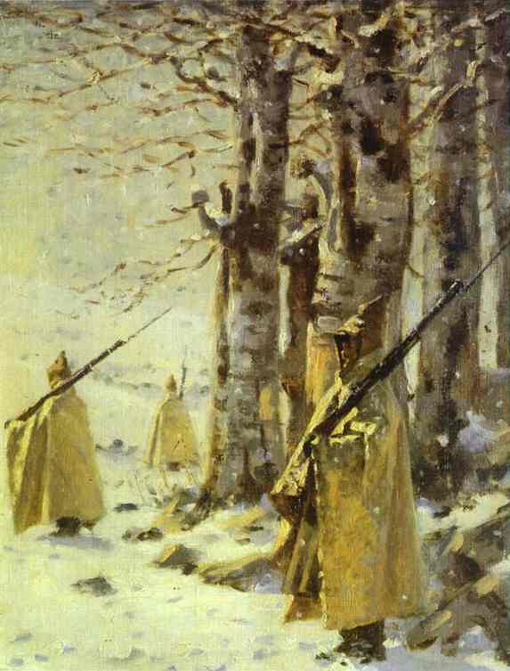 Picket In The Balkan Mountains 1878 | Vasily Vereshchagin | oil painting