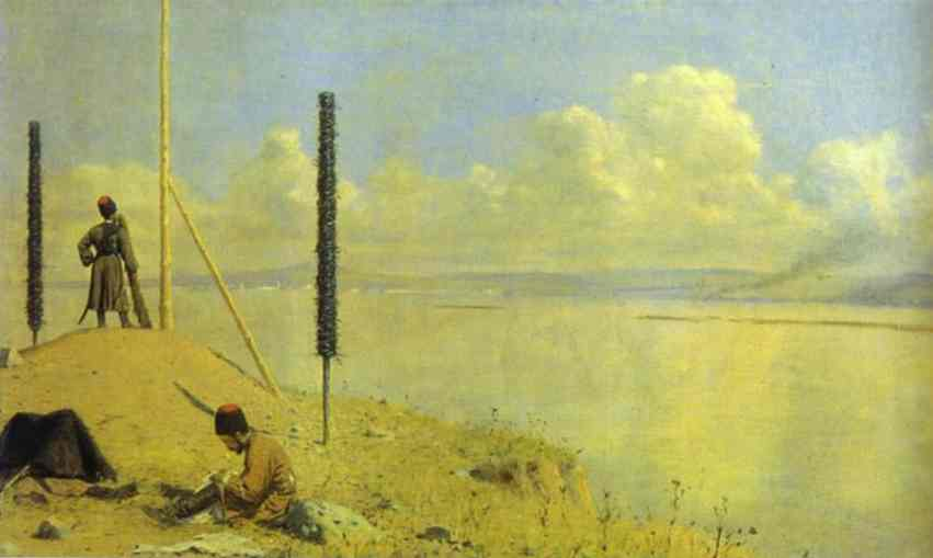 Picket On The Danube 1878-1879 | Vasily Vereshchagin | oil painting