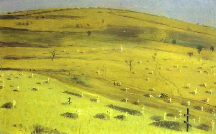Site Of The Battle Fought 1877 | Vasily Vereshchagin | oil painting