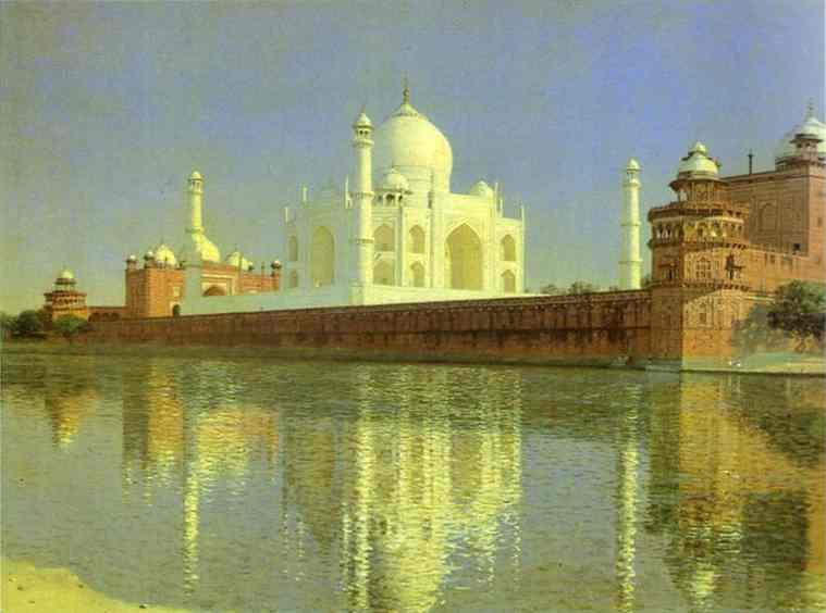 Taj Mahal Mausoleum In Agra 1874-1876 | Vasily Vereshchagin | oil painting