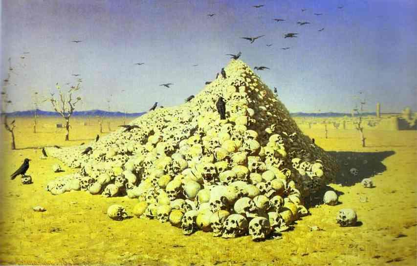 The Apotheosis Of War 1871 | Vasily Vereshchagin | oil painting