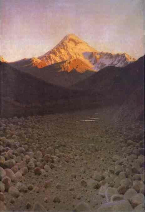 The Mount Kazbek 1897-1898 | Vasily Vereshchagin | oil painting