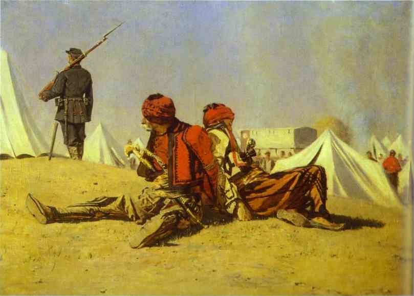 Two Hawks (Bashibazouks) 1878-1879 | Vasily Vereshchagin | oil painting