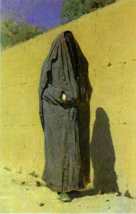 Uzbek Woman In Tashkent 1873 | Vasily Vereshchagin | oil painting