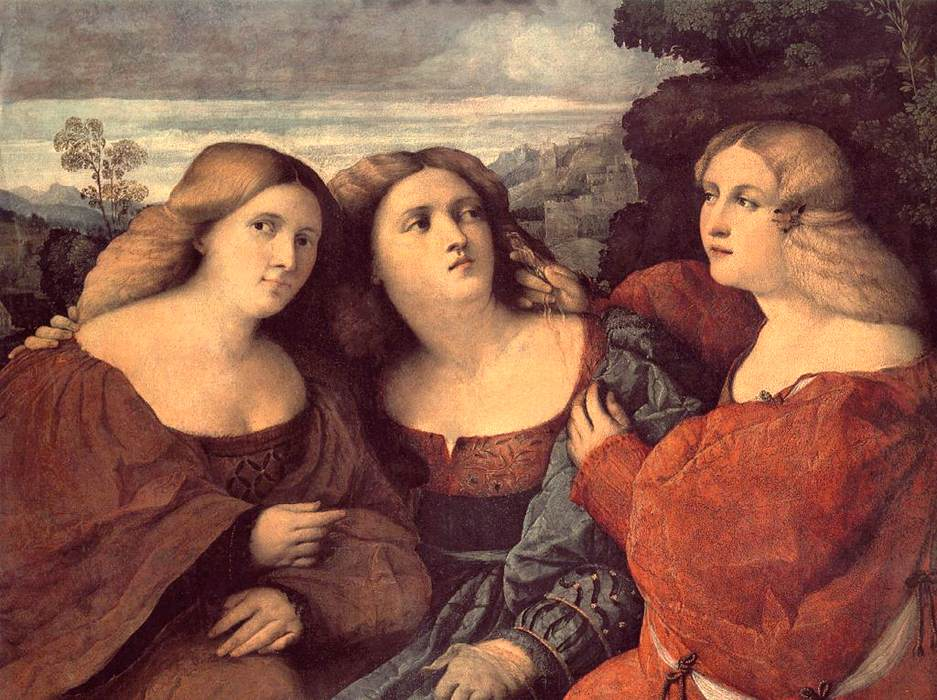 The Three Sisters (detail) | Vecchio Palma | oil painting