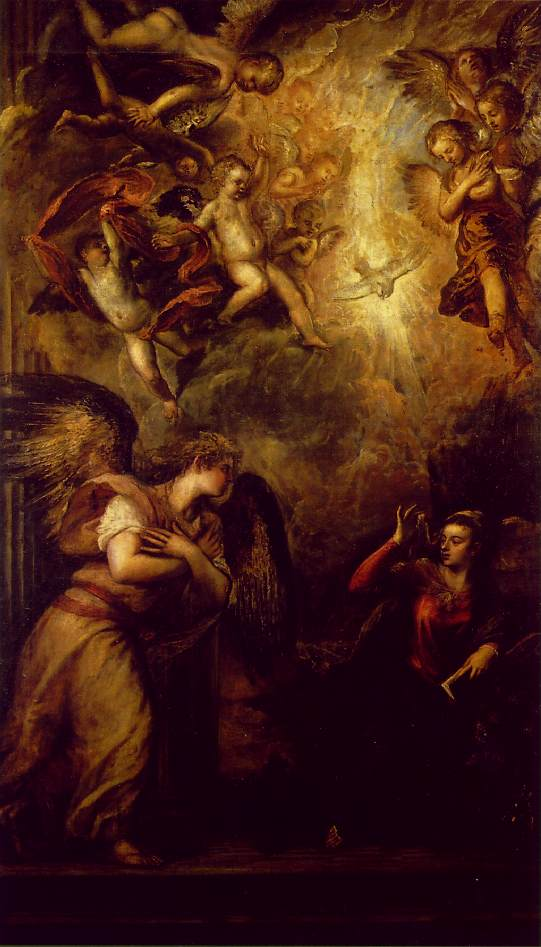 Annunciation 1559-62 | Vecellio Tiziano | oil painting