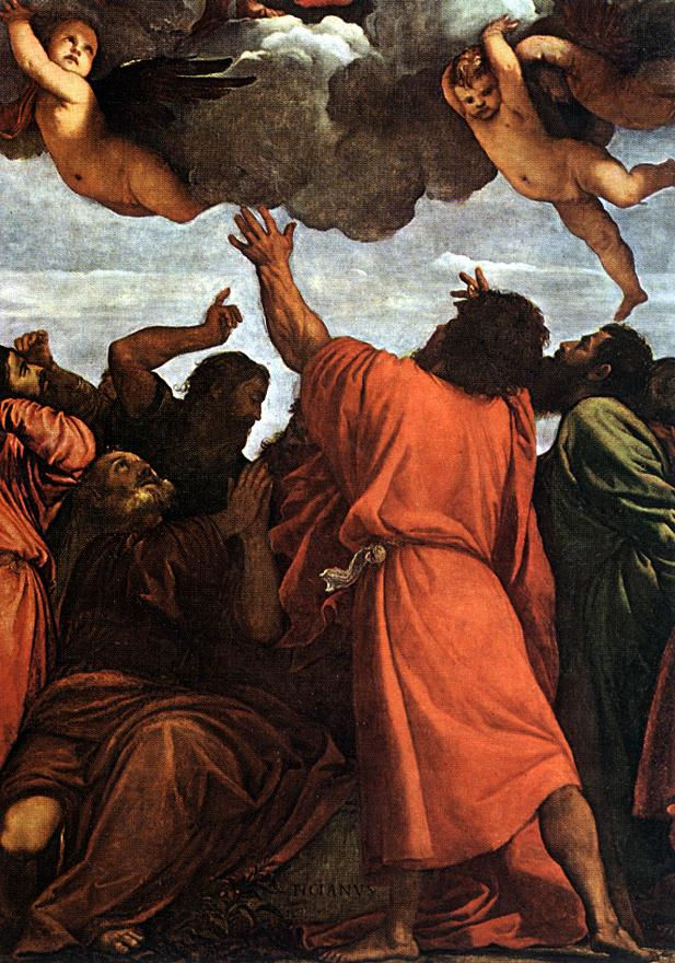 Assumption Of The Virgin Detail 2 1516-18 | Vecellio Tiziano | oil painting