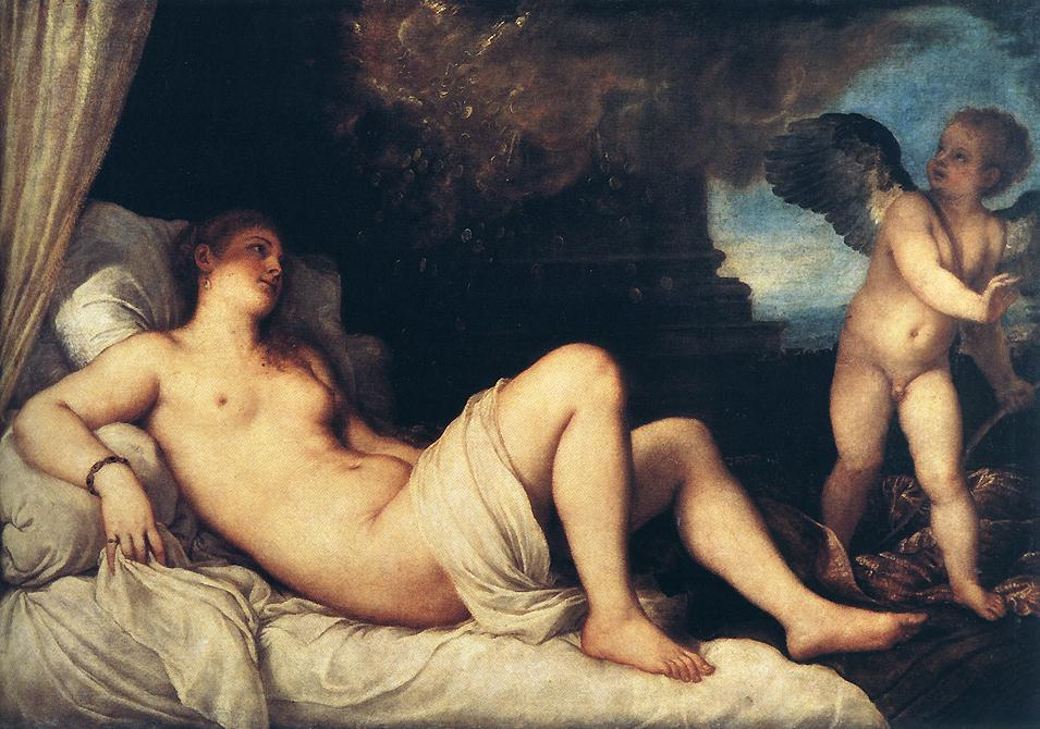 Danae 1544 | Vecellio Tiziano | oil painting