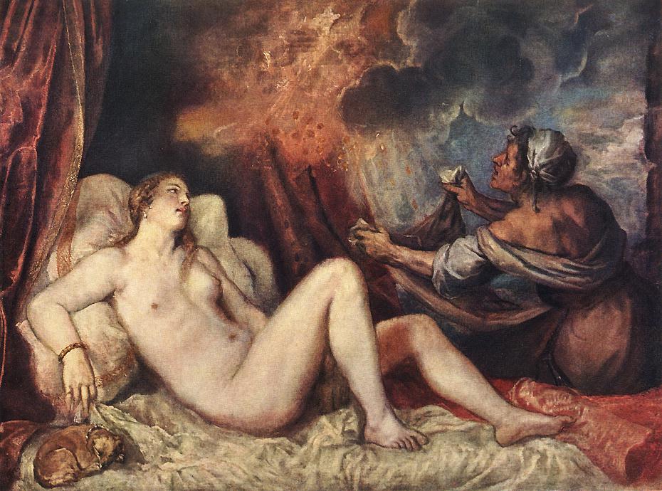 Danae 1553-54 | Vecellio Tiziano | oil painting