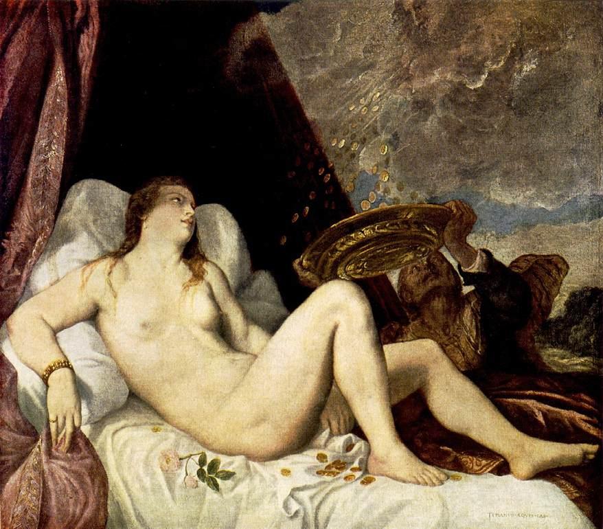 Danae 1554 | Vecellio Tiziano | oil painting