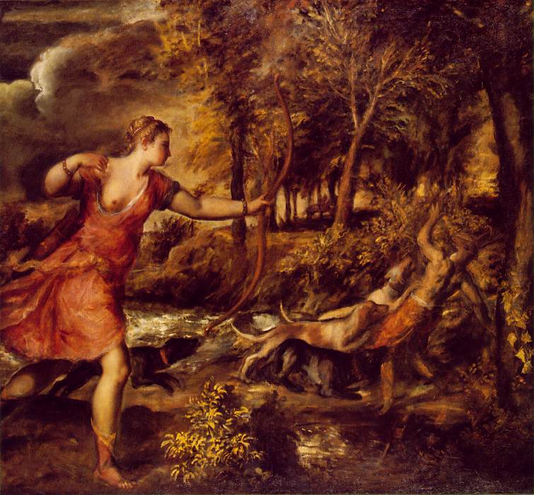 Death Of Actaeon 1562 | Vecellio Tiziano | oil painting