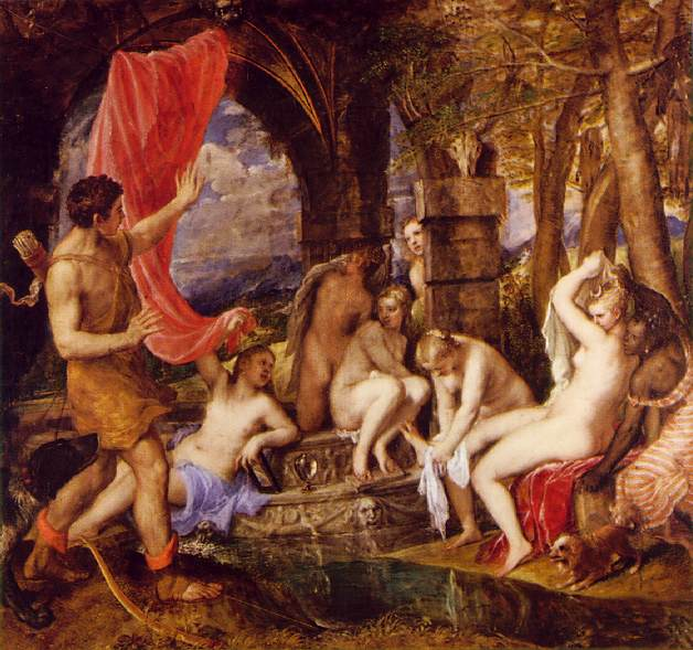 Diana And Actaeon 1559 | Vecellio Tiziano | oil painting