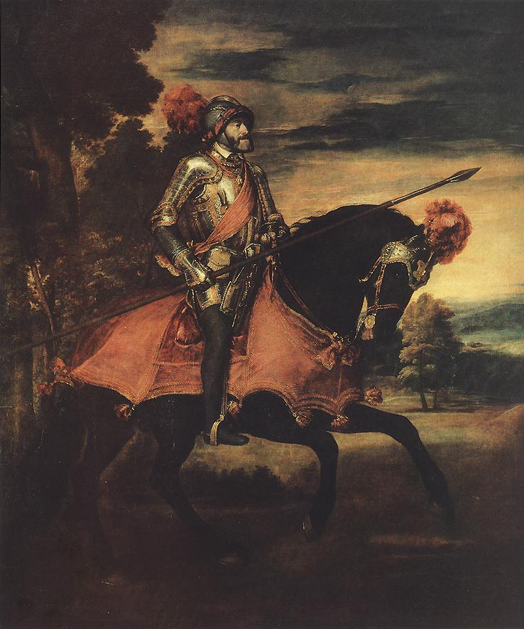 Emperor Charles V At Muhlberg 1548 | Vecellio Tiziano | oil painting