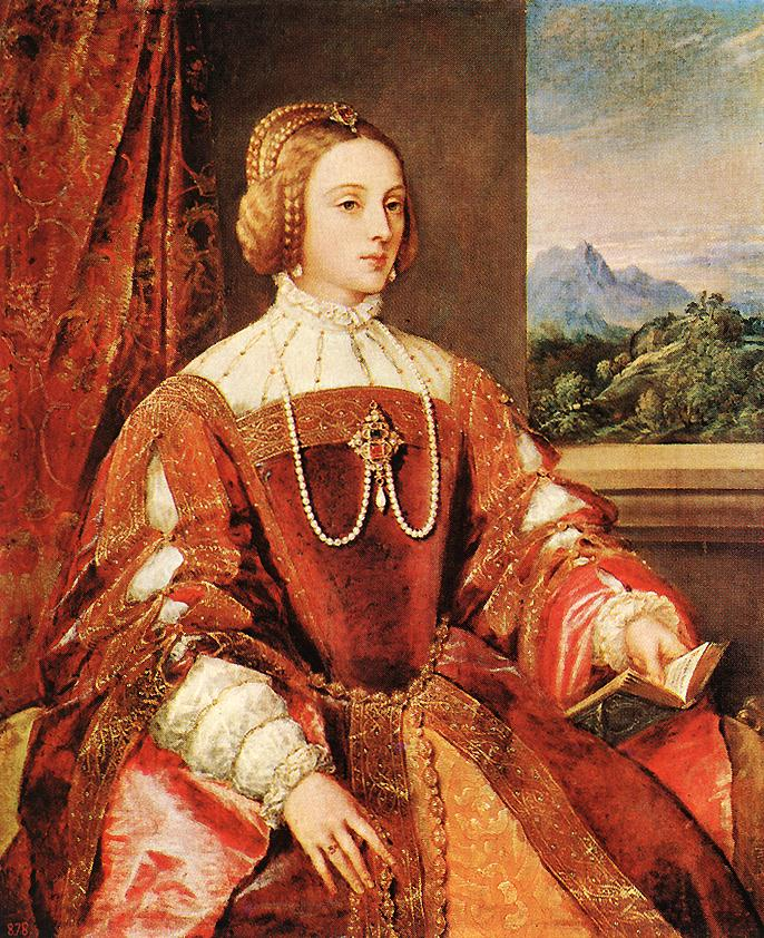 Empress Isabel Of Portugal 1548 | Vecellio Tiziano | oil painting
