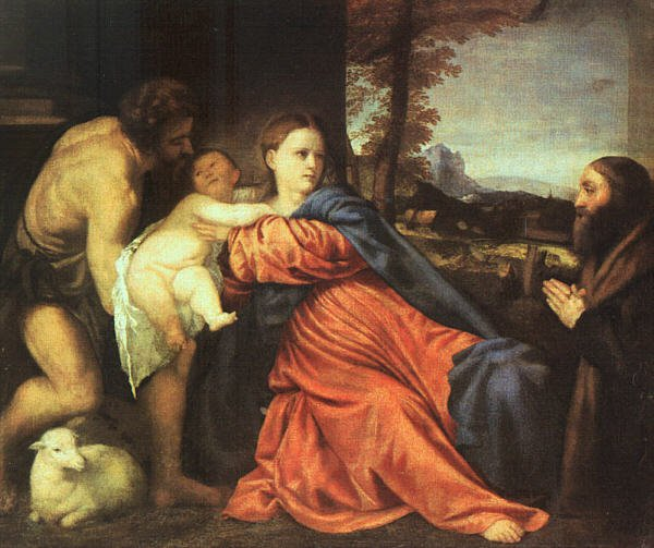 Holy Family And Donor 1513-14 | Vecellio Tiziano | oil painting