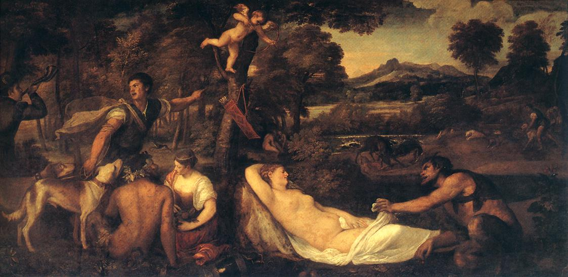 Jupiter And Anthiope Pardo Venus 1540-42 | Vecellio Tiziano | oil painting