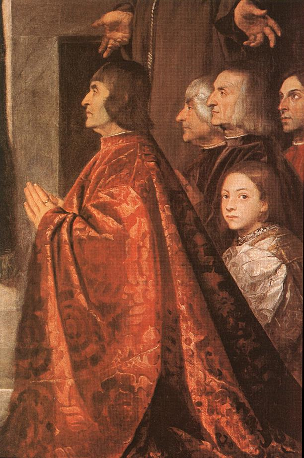 Madonna With Saints And Members Of The Pesaro Family Detail 3 1519-26 | Vecellio Tiziano | oil painting