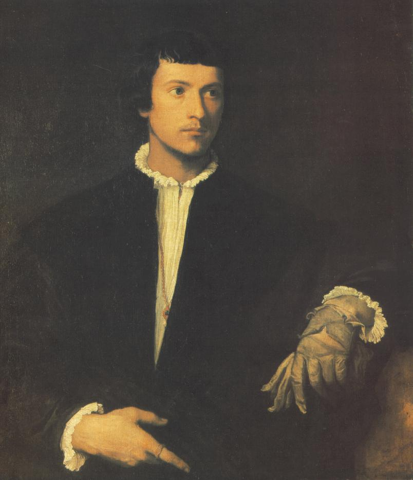 Man With Gloves 1523-24 | Vecellio Tiziano | oil painting