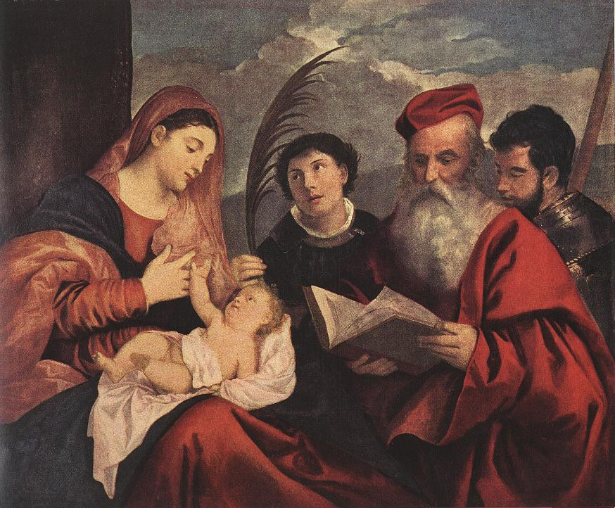 Mary With The Child And Saints 1510 | Vecellio Tiziano | oil painting