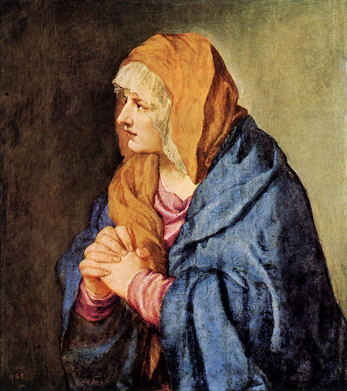 Mater Dolorosa With Clasped Hands 1550 | Vecellio Tiziano | oil painting