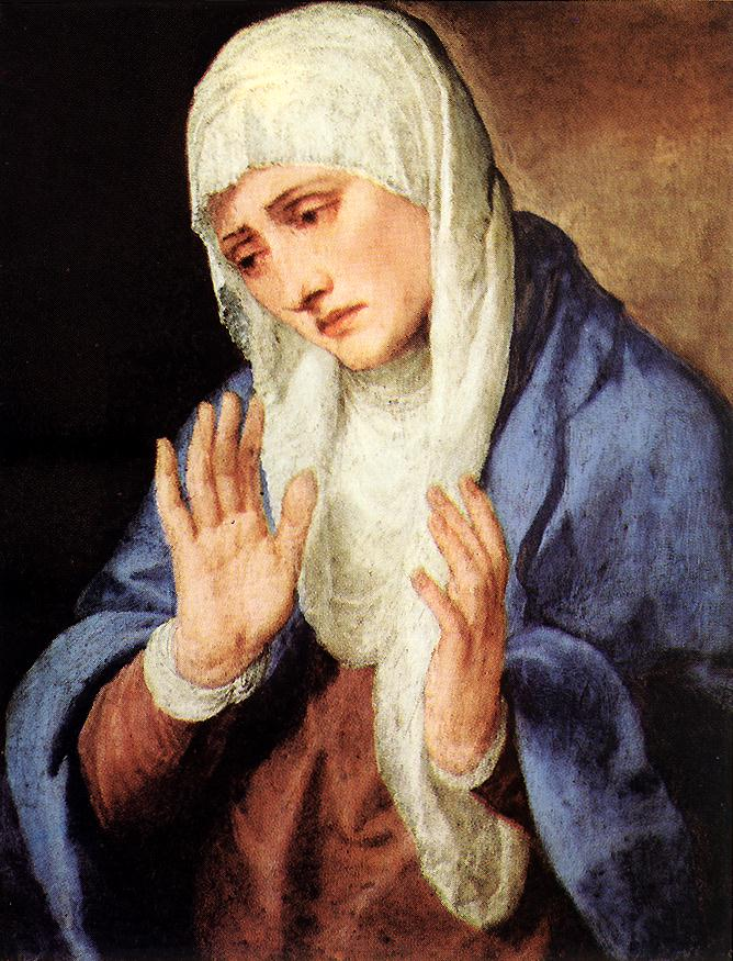 Mater Dolorosa With Outstretched Hands 1554 | Vecellio Tiziano | oil painting