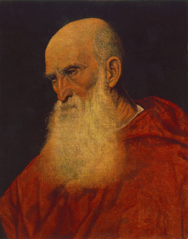 Portrait Of An Old Man Pietro Cardinal Bembo 1545-46 | Vecellio Tiziano | oil painting