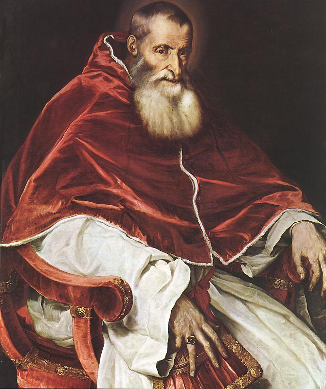 Portrait Of Pope Paul Iii | Vecellio Tiziano | oil painting
