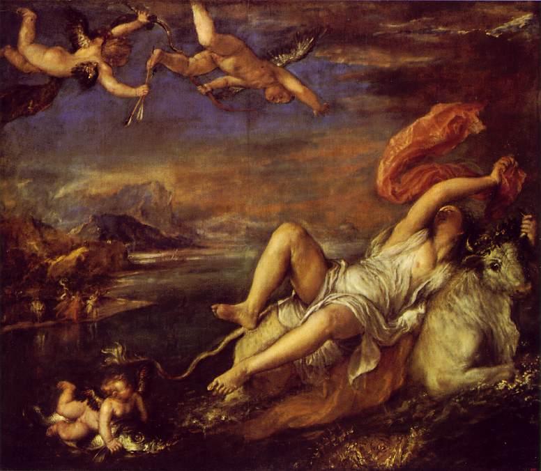 Rape Of Europa 1559-62 | Vecellio Tiziano | oil painting