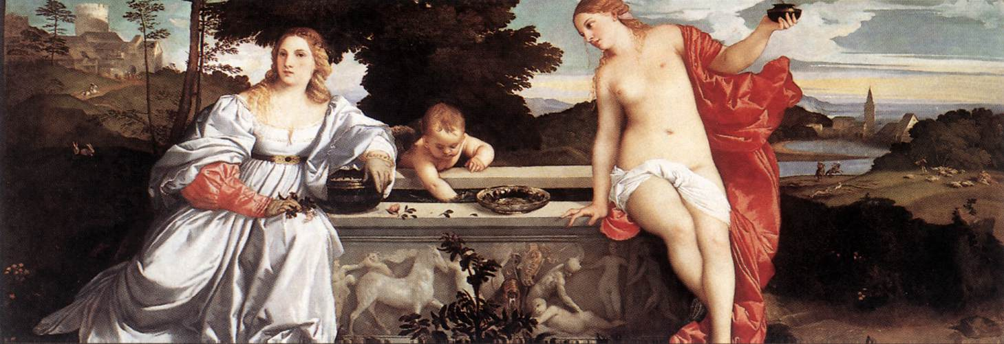 Sacred And Profane Love 1514   Vecellio Tiziano   oil painting