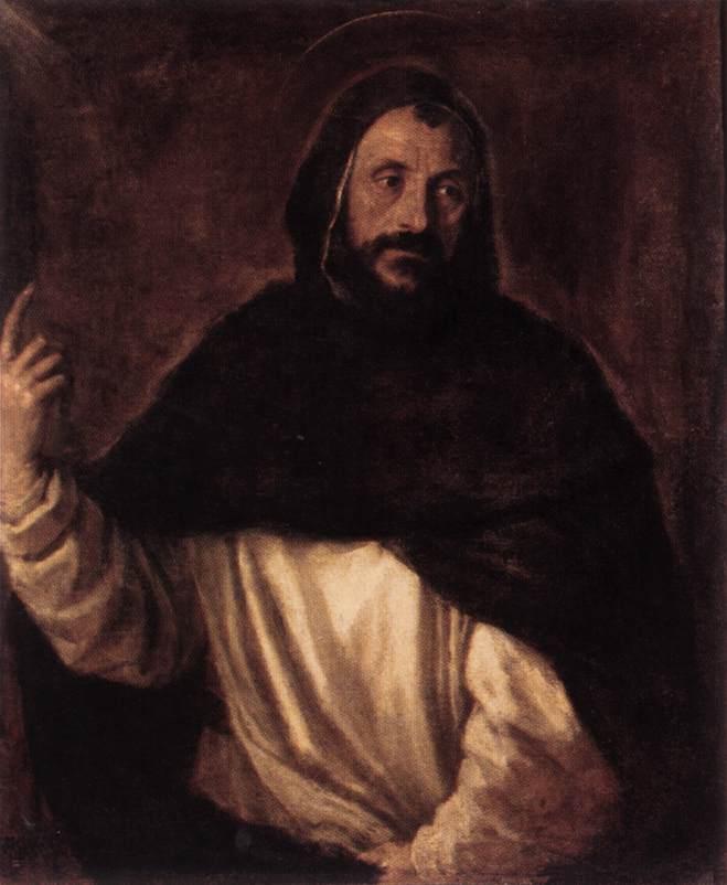 St Dominic 1565 | Vecellio Tiziano | oil painting