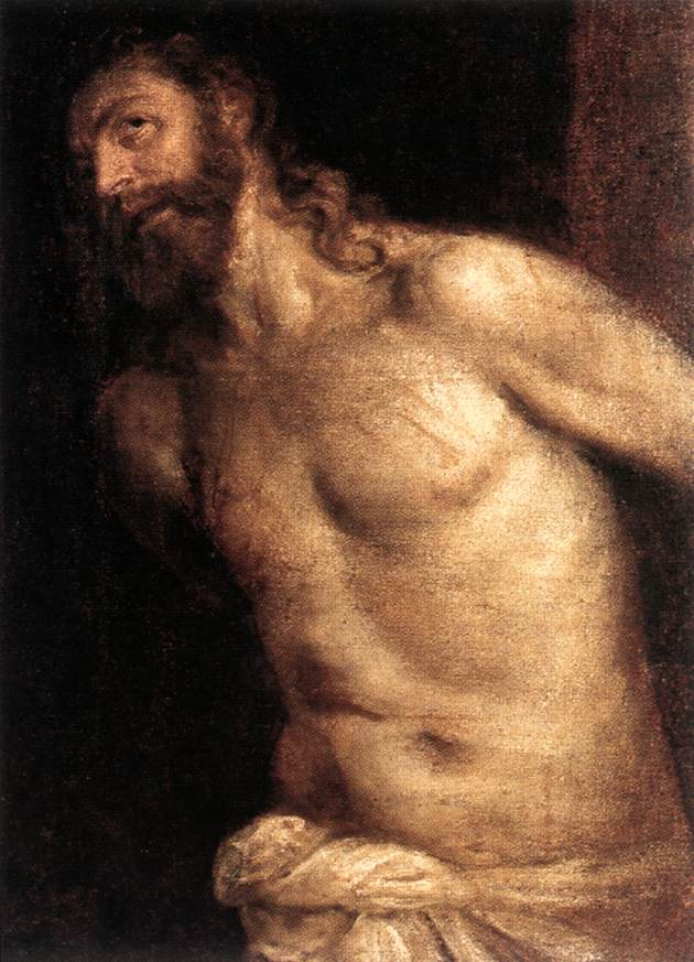 The Courging Of Christ 1560 | Vecellio Tiziano | oil painting