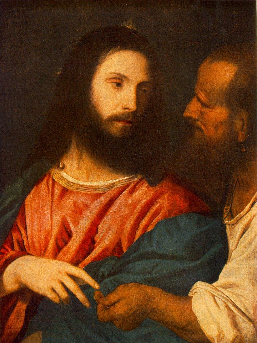 The Tribute Money 1516 | Vecellio Tiziano | oil painting