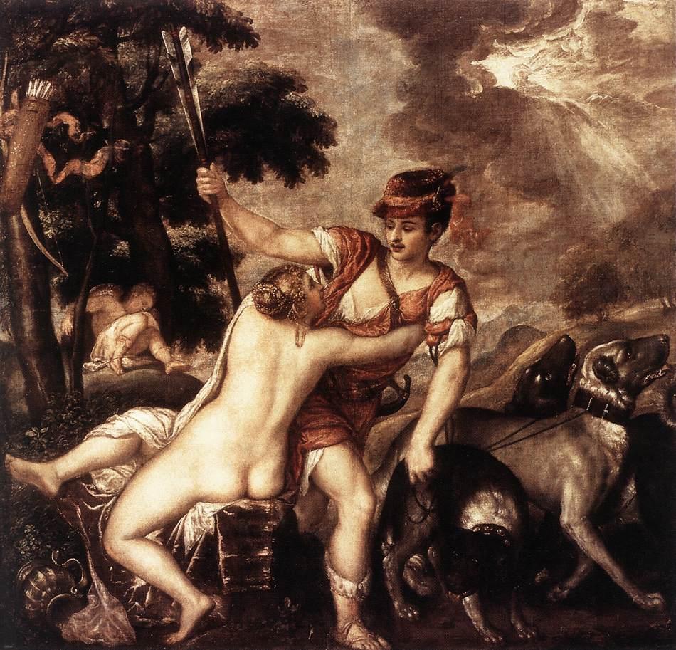 Venus And Adonis | Vecellio Tiziano | oil painting
