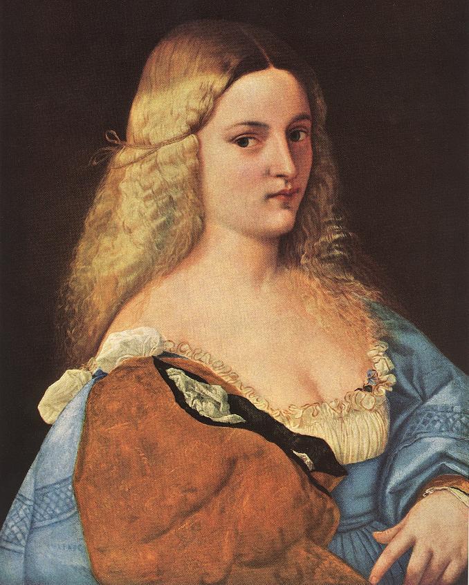 Violante La Bella Gatta   Vecellio Tiziano   oil painting