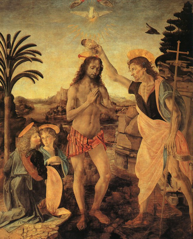 The Baptism of Christ 1472-75 | Verocchi | oil painting