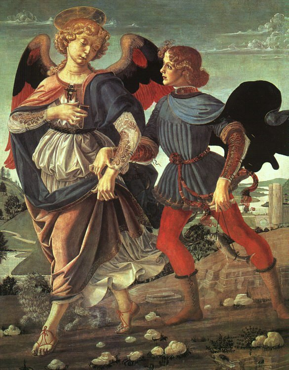 Tobias and the Angel 1470-80 | Verocchi | oil painting