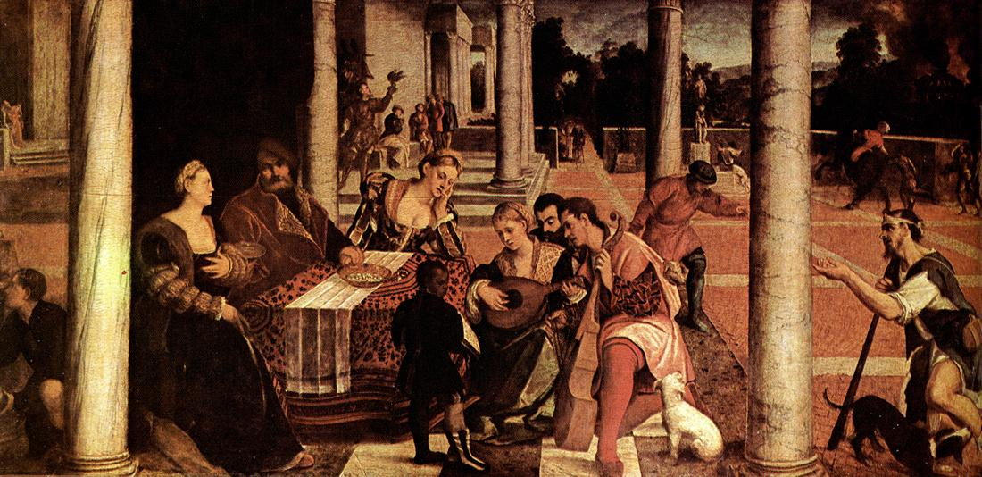 Dives and Lazarus 1540-50 | Veronese Bonifacio | oil painting
