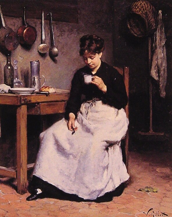 A Cup of Coffee | Victor Gabriel Gilbert | oil painting