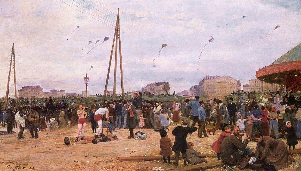The Fairgrounds at Porte de Clignancourt | Victor Gabriel Gilbert | oil painting