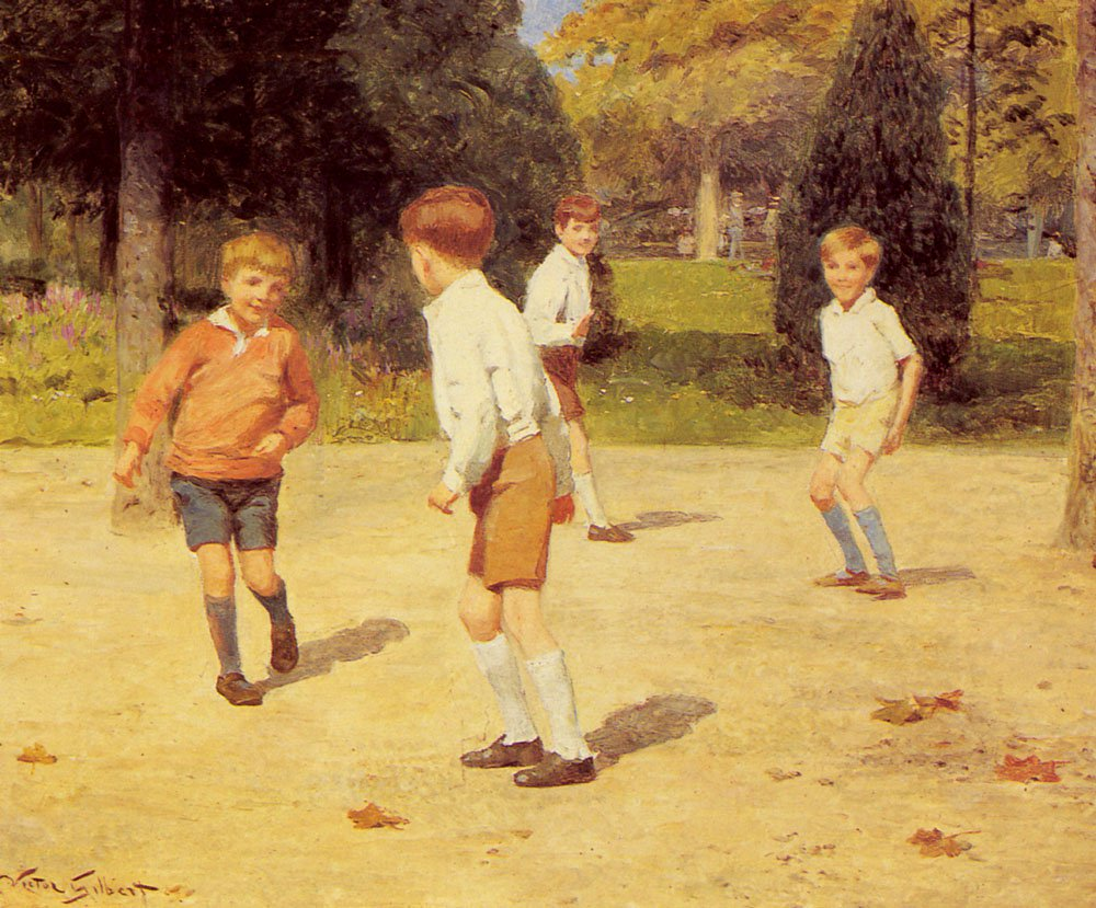 Boys Playing | Victor Gabriel Gilbert | oil painting