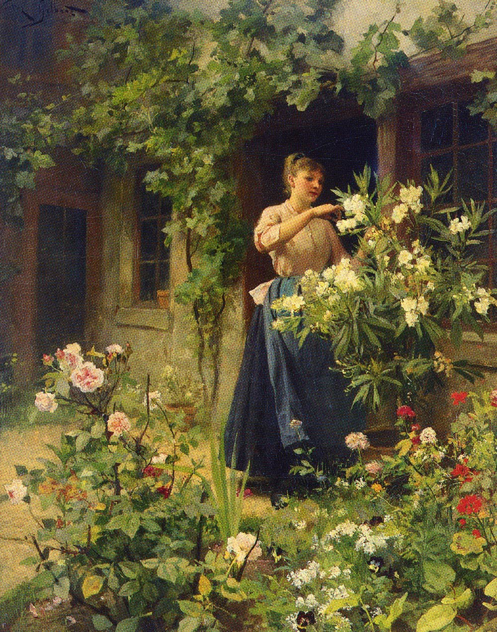 Gardening | Victor Gabriel Gilbert | oil painting