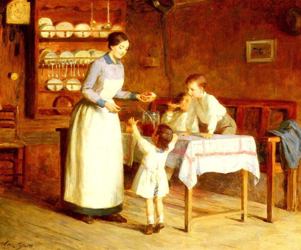 Le Gouter Des Enfants | Victor Gabriel Gilbert | oil painting