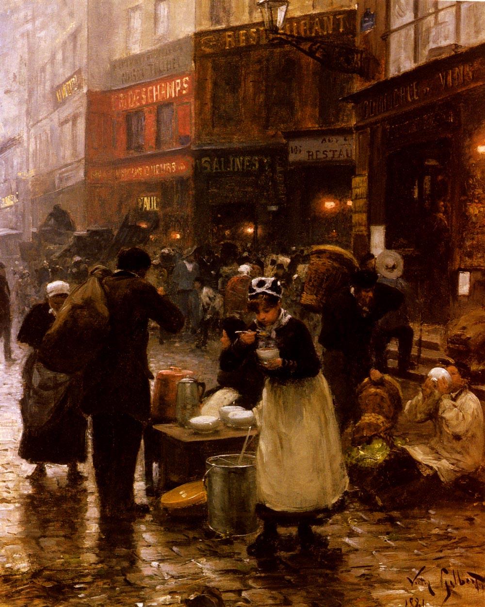 Le Jour De Marche | Victor Gabriel Gilbert | oil painting