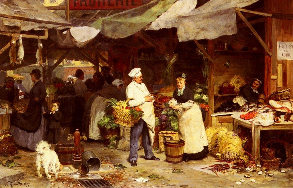 Le Marche De Maubeuge | Victor Gabriel Gilbert | oil painting