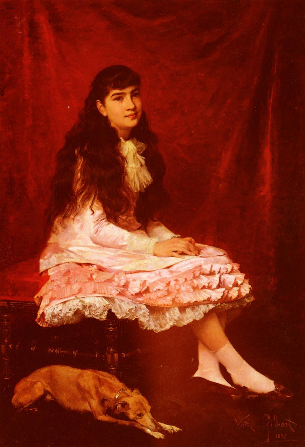 Portrait De Jeune Fille | Victor Gabriel Gilbert | oil painting