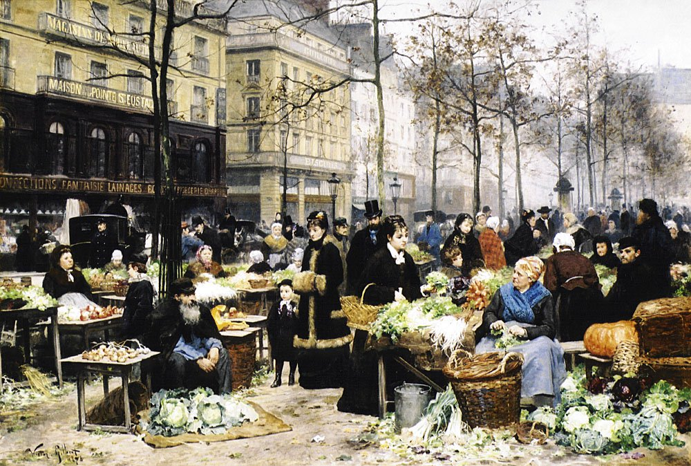 Market Day | Victor Gabriel Gilbert | oil painting