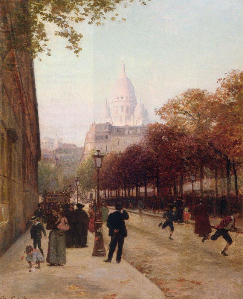 Place DAnvers Et Le Sacre Coeur Paris | Victor Gabriel Gilbert | oil painting