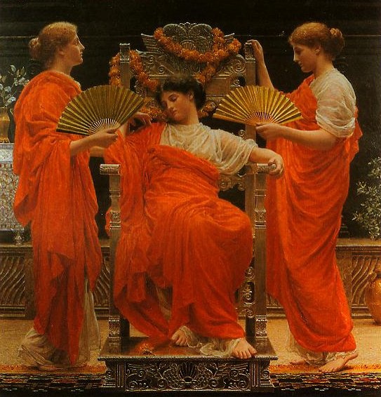 Midsummer | Albert Moore | oil painting