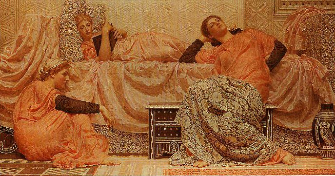 Reading Aloud | Albert Moore | oil painting