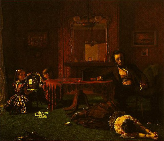 Past And Present(No.1) | Augustus Leopold Egg | oil painting